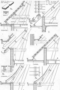 Roof Design, House Design, Wood Joints, Roof Detail, Wood Structure, Detailed Drawings, House Extensions, Architecture Details, Building A House