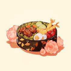 Cute Food Drawings, Kawaii Drawings, Cute Food Art, Cute Art, Arte Do Kawaii, Food Wallpaper, Food Illustrations, Illustration Art, Aesthetic Food