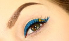 Today (6th of June) is Sweden's National Day - Make a Swedish Flag Makeup!