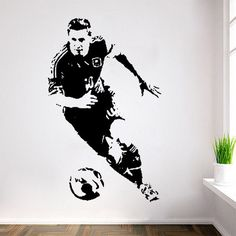 Football Player Lionel Messi Wall Stickers Football Star Poster