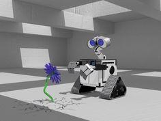 Wall-e 2.0.  Modelado con formas básicas y splines. 3ds Max