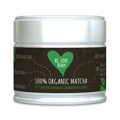 Be Love Body - Organic Matcha Green Tea Powder (It's Proper Japanese Ceremonial Grade) - That Provides A Sustained Energy Release Throughout The Day, 30g Tin: Amazon.co.uk: Grocery