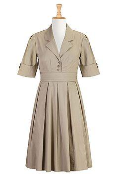 $60 - eShakti - Retro cotton poplin shirtdress - bought September 2014
