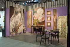 Here are a few pictures of my booth at Maison & Objet in January. Views of my booth. French Lifestyle, Booth, Hand Painted Ornaments, Decoration, Fine Art, Murals, Cool Stuff, Studio, Creative