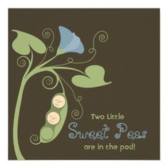 Two LIttle {Sweet} Peas Personalized Announcement