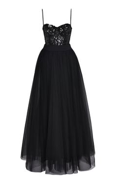 Sequin Embellished Tulle Gown by ELIE SAAB for Preorder on Moda Operandi