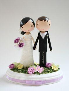 custom+wedding+cake+topper+by+lollipopworkshop+on+Etsy,+$150.00