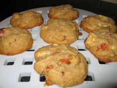 White chocolate, apricot, and almond cookies. These are thick, cakey, and moist. #wholefoodscookieswap        White Chocolate,