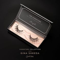 """IT'S HERE! We're proud to introduce our new Signature Collection, featuring the """"Gina"""" signature lash, designed in collaboration with @ginashkeda! A wispy and winged out style. NOW AVAILABLE! Limited time only!  Get yours now at www.esqido.com/shop  ___________________________________________ #esqido #esqidolashes #makeup #beauty #mua #makeupartist #lashaddict #makeupaddict #makeupaddiction #glam #gina #ginashkeda #ginsmakeup #ginalash #fakelashes #falsies #falselashes #minklashes"""