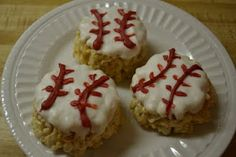 Baseball treats- great idea for E's t-ball team!