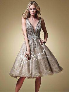 Taupe Party Dress