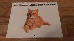 Vintage MORRIS THE CAT 9-Lives Food Calendar Lover Kitten TV Star-Kist RARE 1976
