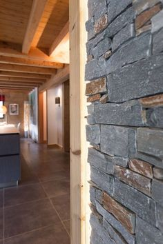 Stone details at a French chalet