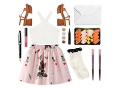 """""""Lunch"""" by gaaras-leaf ❤ liked on Polyvore featuring BCBGMAXAZRIA, Chicnova Fashion, J.W. Anderson, STELLA McCARTNEY, Boohoo, Terre Mère, Fountain and NARS Cosmetics"""