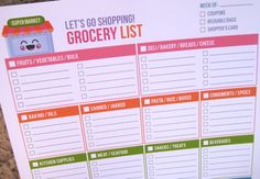 I always wanted a Super cute/organized COLORFUL printable grocery list. Hurry some one take it to the printers and have them make it in to a tablet for me! One copy for every week of the year.