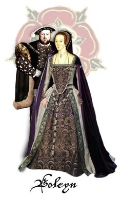 """Henry Tudor & Anne Boleyn"" by annette-heathen ❤ liked on Polyvore featuring art"