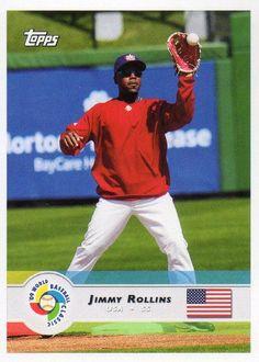 Jimmy Rollins USA World Baseball Classic Jimmy Rollins, World Baseball Classic, Wbc, Major League, Baseball Cards, Sports, Hs Sports, Sport