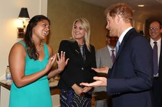 Prince Harry Photos - Prince Harry greets The Duke Edinburgh's International Gold Award winners Jessica Silva (L) and Augusta White during Day 2 of the Invictus Games 2017 at Fairmont Royal York on September 24, 2017 in Toronto, Canada. - Invictus Games Toronto 2017 - Day 2