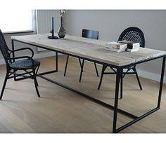 PURE tafel steigerhout met stalen frame