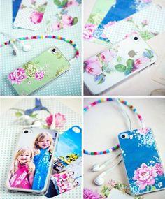 romantische deko für iphone-case-floral gemustertes Papier-Fotos