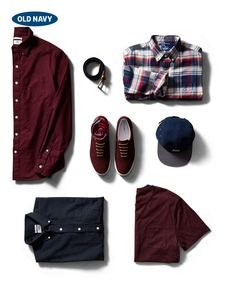 A few easy pieces are all you need to revamp your wardrobe this fall. Just pick up a men's maroon button-up shirt, five-panel hat, and the perfect plaid.
