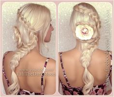 Beautiful, unique braid from Lilith Moon for wedding