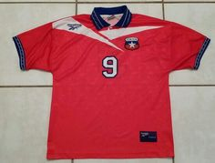 REEBOK Chile National Team Ivan Zamorano Football Shirt #jerseys#soccer#futbol#football#chile#fifa#worldcup#copaamerica#ebay#ebayseller