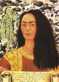 Self Portrait with Loose Hair, 1947  Frida Kahlo