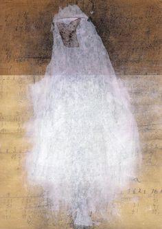 Magda Huygens werk van kleedje gemaakt met gemengde technieken