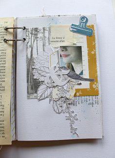 Chez Mag de Rose Anis 2: Mini Botanique - Crop du Printemps du Scrap Scrapbook Albums, Scrapbooking, Mini Albums Scrap, Junk Journal, Bullet Journal, Paper Lace, Book Making, Travelers Notebook, My Arts