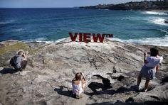 Sydney, ambiental art on the beach