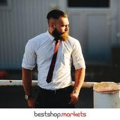 Get up, dress up! Der Mann von heute weiß, auf was es ankommt! Keine Haare auf dem Kopf? Aber trotzdem gut gekämmt! ;)   #bestshopmarkets #bart #only4men #styling #trendsetter #nieohne Fashion, Beard Oil, Moda, Fasion