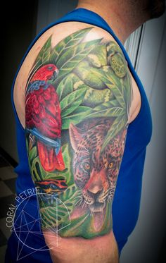 jungle tattoo by coral petrie
