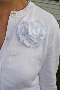 White sweater refashion - Melly Sews