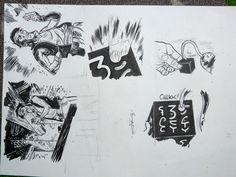 Bingono - Plate of Original Comic Strip Panels - Pavilion Noir V3 - W.B.