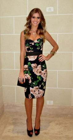 Lala Rudge - dress - Dolce & Gabbana - Louboutin - Clutch Tom Ford