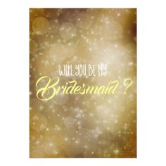 """Will You Be My Bridesmaid?"" Card - will you be my bridesmaid gifts  wedding bride bridal"