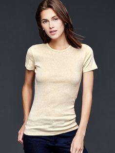 Modern crew tee - A cotton-modal blend that drapes perfectly.