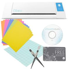 Silhouette CAMEO by Silhouette America - Electronic Cutting Tool  W/ 2 FREE Tools & 10 Card Stock Sheets ($19.98 Value!) Plus $10 Free Subscription & More! >>NEW!<<