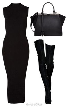 """""""Untitled #34"""" by arietheofficial ❤ liked on Polyvore featuring Witchery and Fendi"""