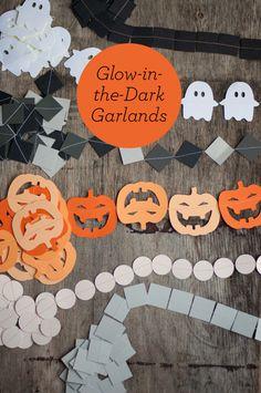 b52b3705deb Glow in the Dark Halloween Garlands. Cheap and Easy DIY!