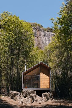 Cabin Designed for a Couple Who Like to Enjoy Nature