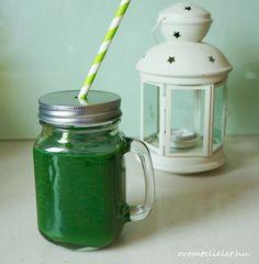 Zöld turmix algával és avokádóval Minion, Mason Jars, Mugs, Tableware, Dinnerware, Tumblers, Tablewares, Minions, Mason Jar