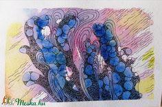 A korallok különleges formái inspirációként szolgálhatnak a képzőművészetben. Ezen akvarell képek alapjait a vízi élővilágból nyertem és absztraktabb módon dolgoztam át. Igyekeztem egyfajta fantáziadús világot megteremteni. A színek nyárias hangulatot idéznek, ezáltal tökéletesen feldobják az otthonunkat!  A képeket akvarellpapírra készítettem akvarelltechnikával és tussal átdolgozva. Egy kép mérete 10 x 15 cm. Lehet őket együtt ill. külön is rendelni. Techno, Photo And Video, Night, Artwork, Diy, Instagram, Art Work, Do It Yourself, Work Of Art