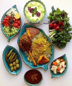 "Iranian food,Just the way "" baghali polo"" should be Iranian Dishes, Iranian Cuisine, Iran Food, Middle Eastern Recipes, Arabic Food, Turkish Recipes, Mediterranean Recipes, Dessert, Food Design"