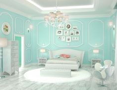20 Bedroom Paint Ideas For Teenage Girls | Tiffany blue is a refreshing hue that is cool and comforting. It brings class and elegance in your teen's bedroom design with a feminine touch.
