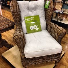 wicker chair $399 (at HomeGoods)