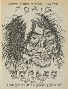 Zorlac Skateboards - Pushead Ad (1986)