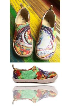 Abstract Horse Silhouette Women/¡s Casual Sneakers Shoes Slip-On Classic Spring Simple