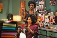 Steel Magnolias Brings Big Hair to the Small Screen -- Natural hair products and thick, beautiful coils grace the TV remake of the 1989 classic. #naturalhair  http://www.naturallycurly.com/curlreading/curly-hair/steel-magnolias-brings-big-hair-to-the-small-screen